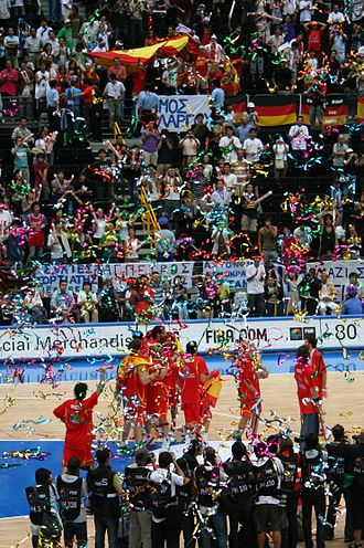 2006 FIBA World Championship - Spain's Gold Medal ceremony