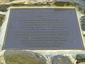 George Bass - Western Port 200th anniversary of discovery re-enactment plaque.