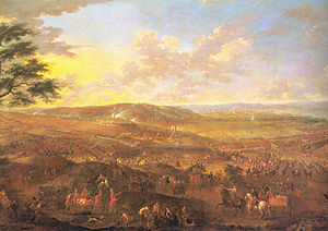 Battle of Saragossa - An artist's rendition of the Battle of Saragossa, or Monte Torrero