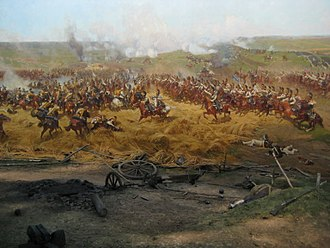 Cuirassier - Image: Battle of Borodino panorama detail 04