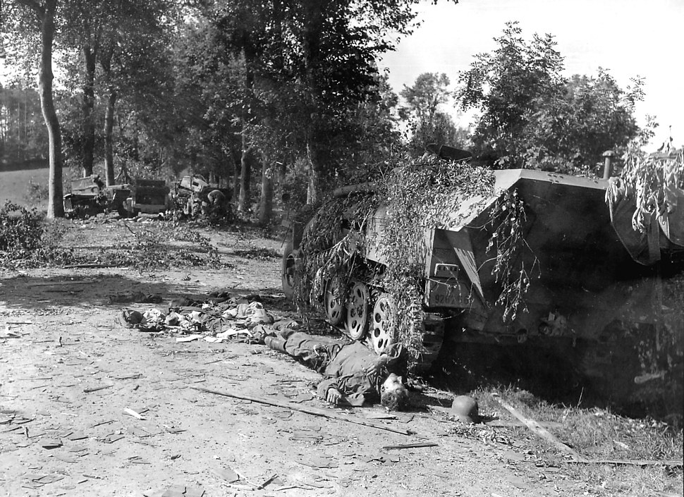 Battle of Mortain - Devastated German Tank