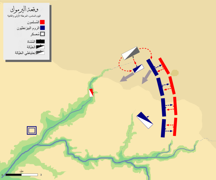 ملف:Battle of Yarmouk-day-6 phase-1&2-ar.PNG