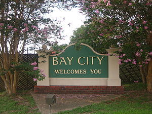 Bay City, Texas - Entrance sign to Bay City