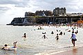 Bay swimmers and water activities at Broadstairs Kent England.jpg