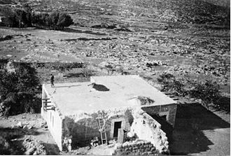 Bayt 'Itab - Member of Harel Brigade during demolition of Bayt 'Itab, 1948