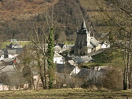 Beaudéan and the church of Saint-Martin