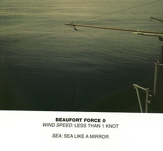 Beaufort scale - Image: Beaufort scale 0