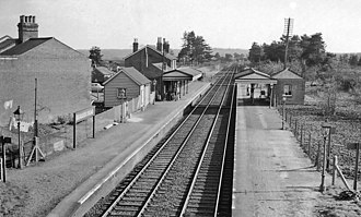 Beaulieu Road railway station - The station in 1963