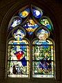 Beauvais (60), église Notre-Dame de Marissel, bas-côté sud, 3e travée, verrière n° 4 - Pietà, conversion de saint Eustache.jpg
