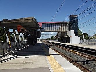 Beerburrum railway station - Northbound view from Platform 2 in September 2012