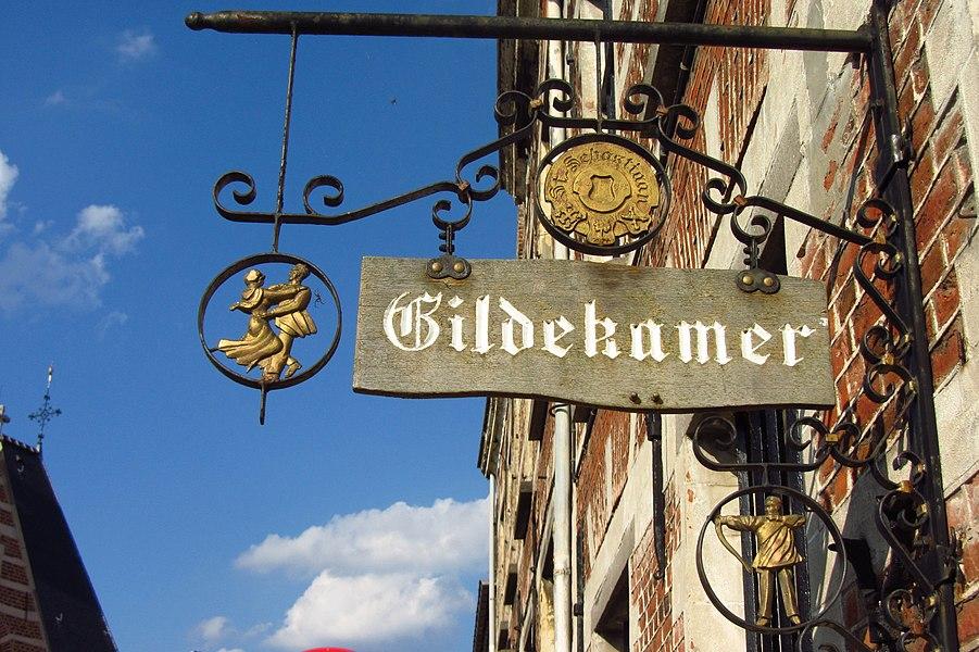 Begijnhof van Herentals - uithangbord van Gildekamer