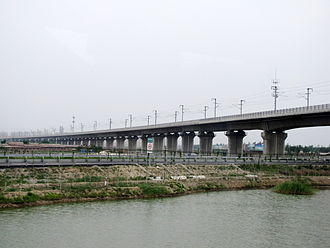 Beijing–Tianjin intercity railway - Viaduct on the Beijing–Tianjin intercity railway.