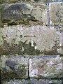 Benchmark on old railway bridge, Llandegai - geograph.org.uk - 2297692.jpg