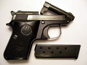 Beretta 950 - Beretta Jetfire with the tip-up barrel open
