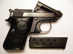 Beretta 950 - Beretta Jetfire with the tip-up barrel open