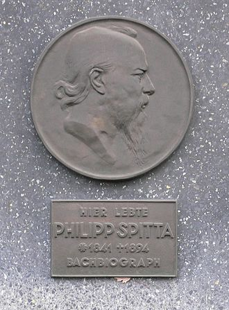Philipp Spitta - A commemorative plaque in Berlin