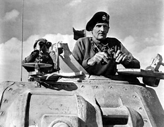 Bernard Montgomery - Montgomery in a Grant tank in North Africa, November 1942.