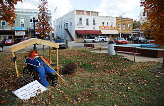 National Register of Historic Places listings in Carroll County, Arkansas - Image: Berryville AR town square