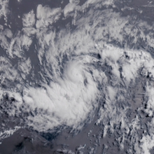 Visible satellite imagery of a small but well-defined hurricane on July 6.