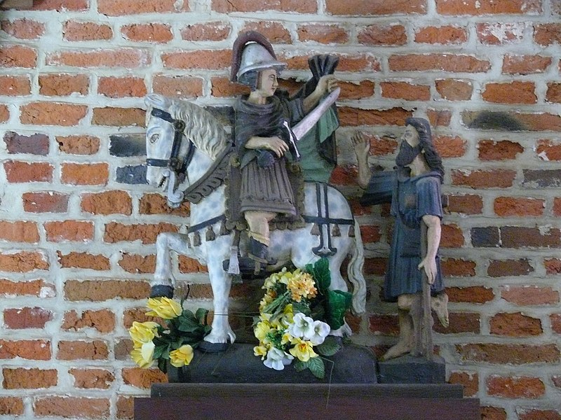 Statue of St-Martin in St-Martin's Chapel in Bever, dating back to 1760.