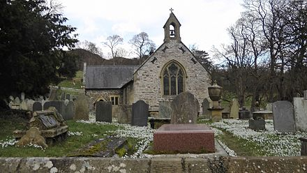 Llantysilio Church 2015 Beyer Grave and Llantysilio Church,Denbighshire,N Wales.jpg