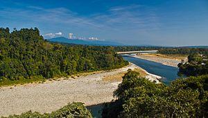 Kameng River - Kameng river at Bhalukpong