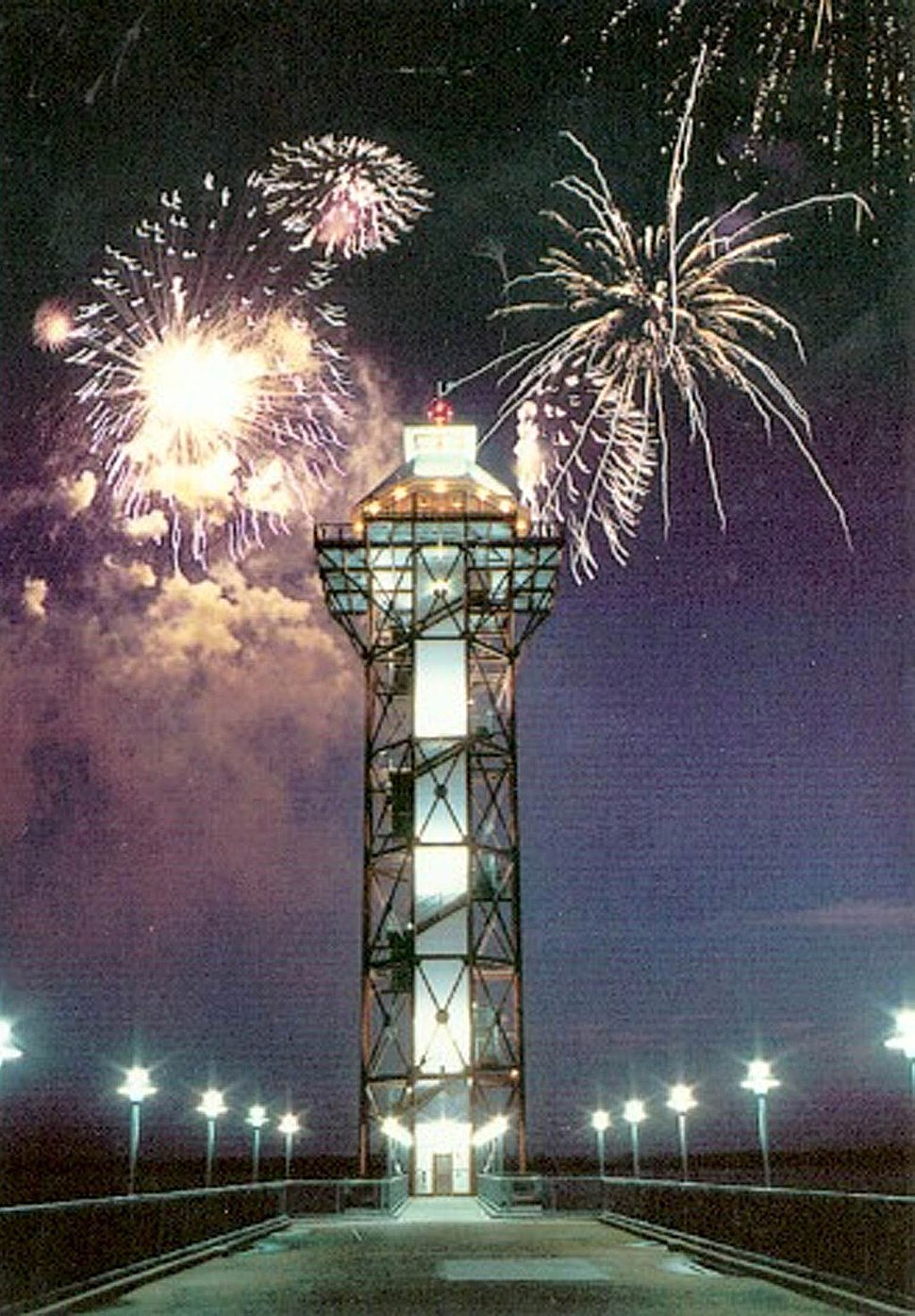 Bicentennial Tower with Fireworks
