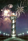 Bicentennial Tower with Fireworks.jpg