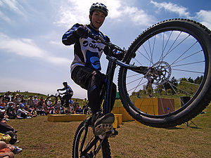 Mountain bike trials - Bicycle trials rider