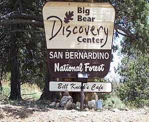 Big Bear Discovery Center - Big Bear Discovery Center sign