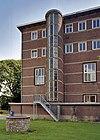 blok boosten, overzicht trappenhuis met schade aan het glas-in-lood - maastricht - 20353898 - rce