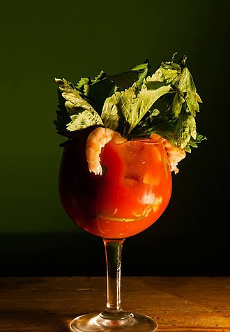 Bloody Mary (cocktail) - Seafood Bloody Mary.