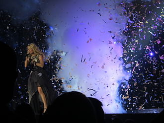"""Blown Away (song) - Underwood performing """"Blown Away"""" on the Blown Away Tour (2012-13)."""