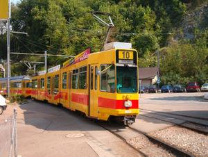 Line 10 (BLT) - Line 10 at Flüh (Bättwil, Canton of Solothurn)