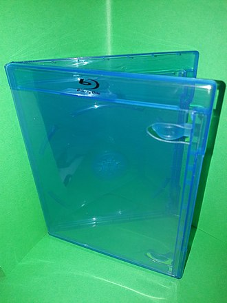 Blu-ray - Blu-ray case—often blue-colored