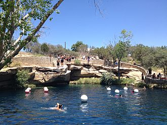 Blue Hole (New Mexico) - The Blue Hole is popular with divers and swimmers, too