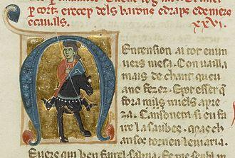Peirol - Peirol, from a 13th-century chansonnier
