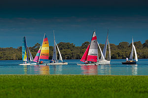 Ballina, New South Wales - Image: Boats on the Ricmond River at Ballina