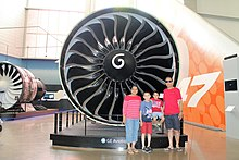 Plane Engine Size Compare to Human Size at Boeing