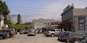 Bolinas, California - street scene in Bolinas, 2009