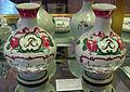 Bologna, manifattura fink, due bottiglie da farmacia in maiolica, 1750-1800 ca..JPG