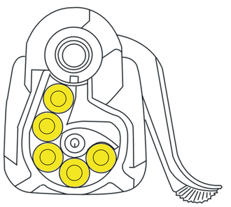 Steyr SSG 69 - Diagram of the rotary 5-round SSG 69 magazine