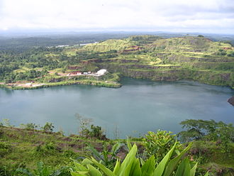 Liberia - A view of a lake in Bomi County