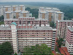 HDB blocks at Boon Lay Place
