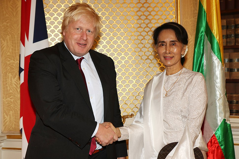 Boris Johnson and Aung San Suu Kyi 2016