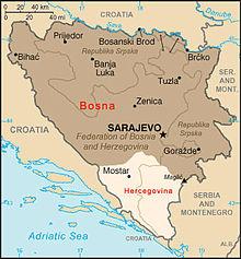 kart bosnia Bosnia Hercegovina (denstorebalkanreisen) kart bosnia