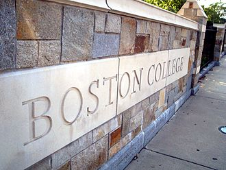 St. Ignatius Gate entrance Boson College sign.jpg