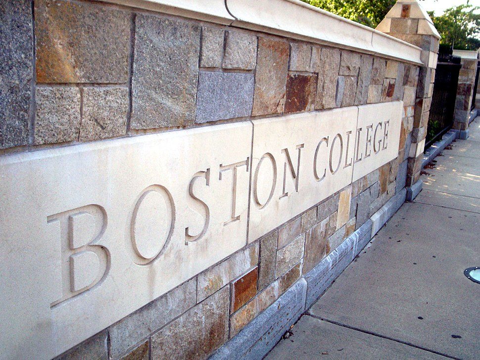 Boson College sign