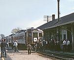 Boston & Maine RDC 6127 on Railroad Enthusiasts fantrip at Reading, MA on April 27, 1969.jpg