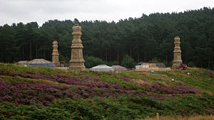 Thor: The Dark World - Film set for Thor: The Dark World at Bourne Wood, Surrey, England.